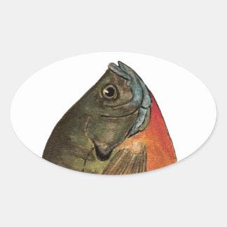 Pesca de la brema pegatina ovalada