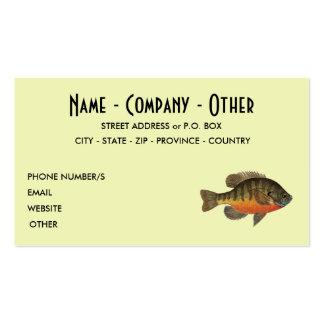 Pesca de la brema tarjetas de visita