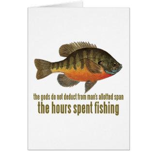 Pesca de la brema tarjeta de felicitación