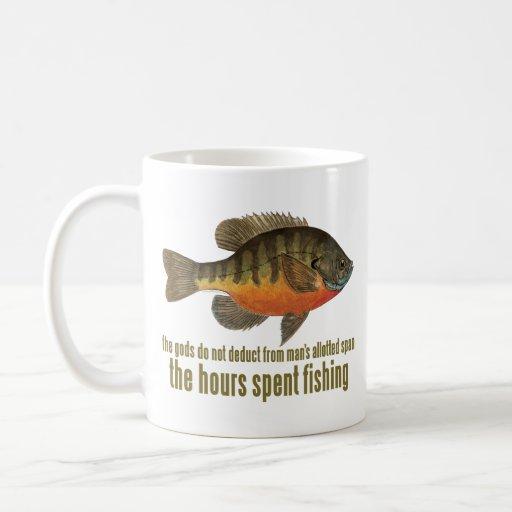 Pesca de la brema tazas de café
