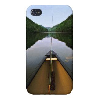 Pesca de la canoa de la montaña iPhone 4/4S carcasa