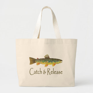 Pesca de la captura y del lanzamiento bolsa tela grande