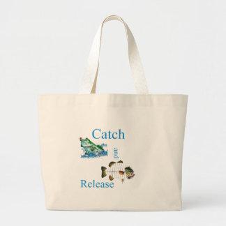 Pesca de la captura y del lanzamiento bolsa de mano