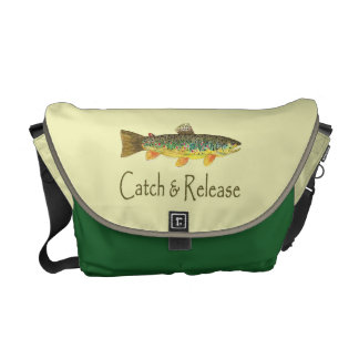 Pesca de la captura y del lanzamiento bolsas de mensajería