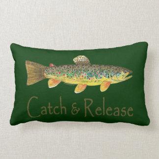 Pesca de la captura y del lanzamiento cojín lumbar