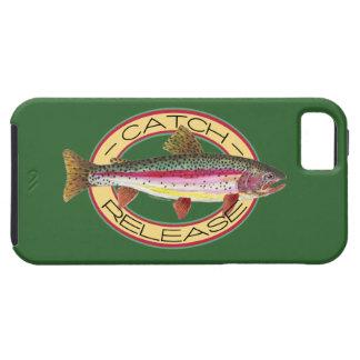 Pesca de la captura y del lanzamiento de la trucha funda para iPhone SE/5/5s