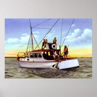 Pesca de la carta de Fort Pierce la Florida Poster