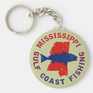 Pesca de la Costa del Golfo de Mississippi Llavero Personalizado