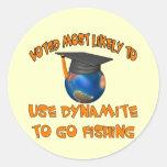 Pesca de la dinamita pegatinas
