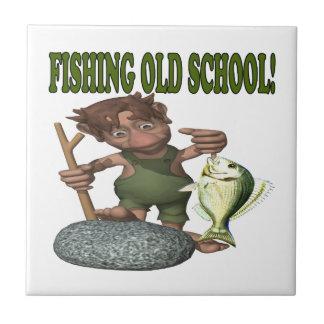 Pesca de la escuela vieja azulejos