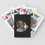 Pesca de la escuela vieja baraja cartas de poker