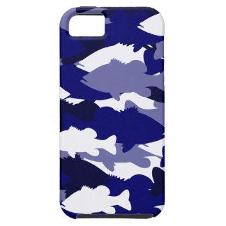Pesca de la lubina azul Camo iPhone 5 Fundas
