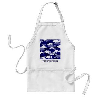 Pesca de la lubina azul de Camo Delantal