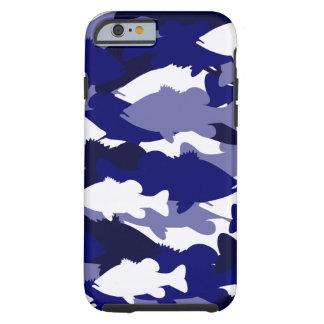 Pesca de la lubina azul de Camo Funda Resistente iPhone 6