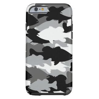 Pesca de la lubina Camo negro Funda Para iPhone 6 Tough