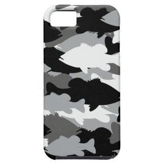 Pesca de la lubina Camo negro iPhone 5 Funda