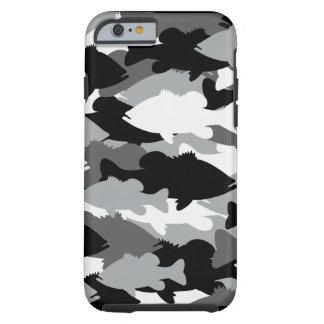 Pesca de la lubina Camo negro Funda De iPhone 6 Tough