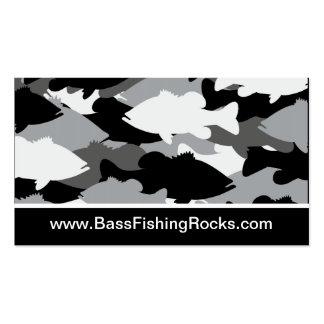 Pesca de la lubina Camo negro Tarjetas De Visita