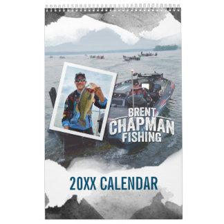 Pesca de la lubina del buhonero de Brent - foto de Calendarios