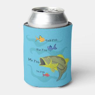 Pesca de la lubina del dibujo animado enfriador de latas