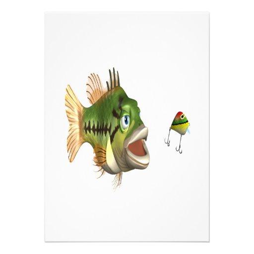 Pesca de la lubina invitación