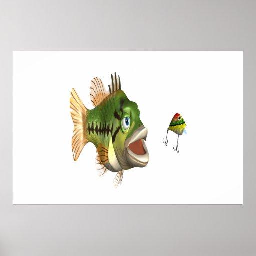 Pesca de la lubina poster