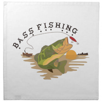 Pesca de la lubina servilleta de papel