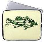 Pesca de la lubina verde de Camo Fundas Ordendadores
