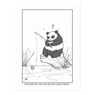 Pesca de la panda tarjetas postales