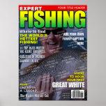 Pesca de la portada de revista personalizada impresiones
