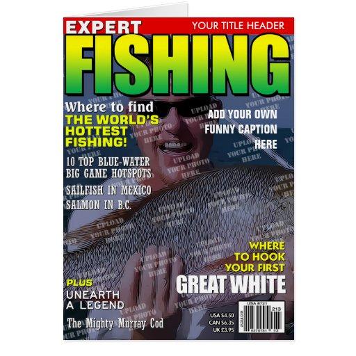 Pesca de la portada de revista personalizada tarjetón
