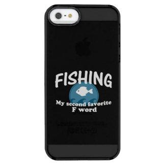 Pesca de la segunda palabra preferida de F Funda Clearly™ Deflector Para iPhone 5 De Uncommon