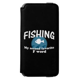 Pesca de la segunda palabra preferida de F Funda Cartera Para iPhone 6 Watson