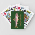 Pesca de la trucha arco iris baraja cartas de poker