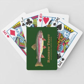 Pesca de la trucha arco iris baraja de cartas