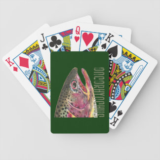 Pesca de la trucha arco iris cartas de juego