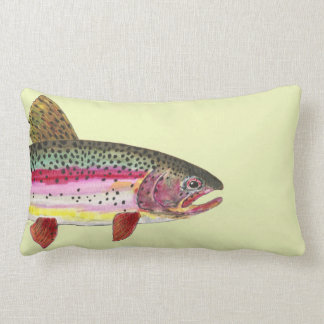 Pesca de la trucha arco iris cojín lumbar