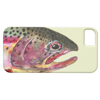 Pesca de la trucha arco iris funda para iPhone SE/5/5s
