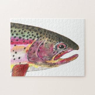 Pesca de la trucha arco iris puzzles