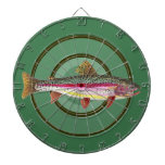 Pesca de la trucha arco iris tablero de dardos