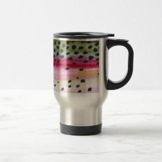 Pesca de la trucha arco iris taza de café