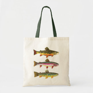 Pesca de la trucha bolsa tela barata