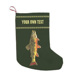 Pesca de la trucha calcetín de navidad pequeño