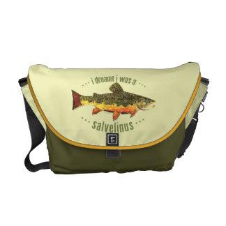 Pesca de la trucha de arroyo bolsa de mensajeria