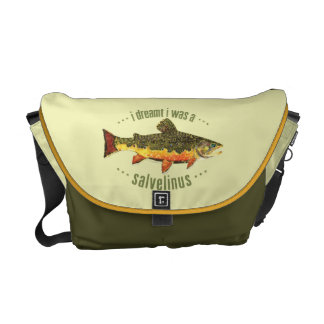 Pesca de la trucha de arroyo bolsa de mensajería