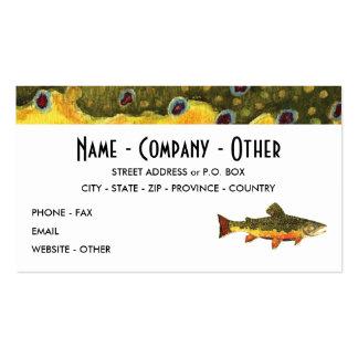 Pesca de la trucha de arroyo tarjetas de visita
