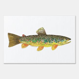 Pesca de la trucha de Brown Carteles