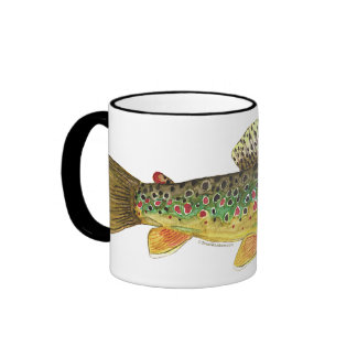 Pesca de la trucha de Brown Taza De Café