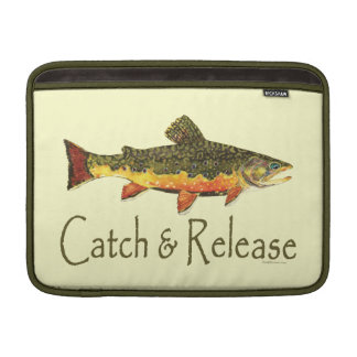 Pesca de la trucha de la captura y del lanzamiento funda para macbook air
