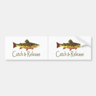 Pesca de la trucha de la captura y del lanzamiento pegatina para auto